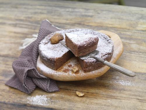 Gâteau fondant Choco / Châtaignes