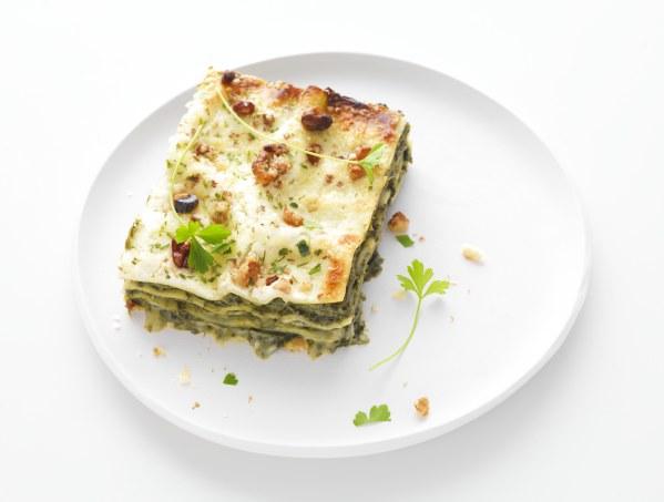 Lasagnes d'épinards au fromage et noix